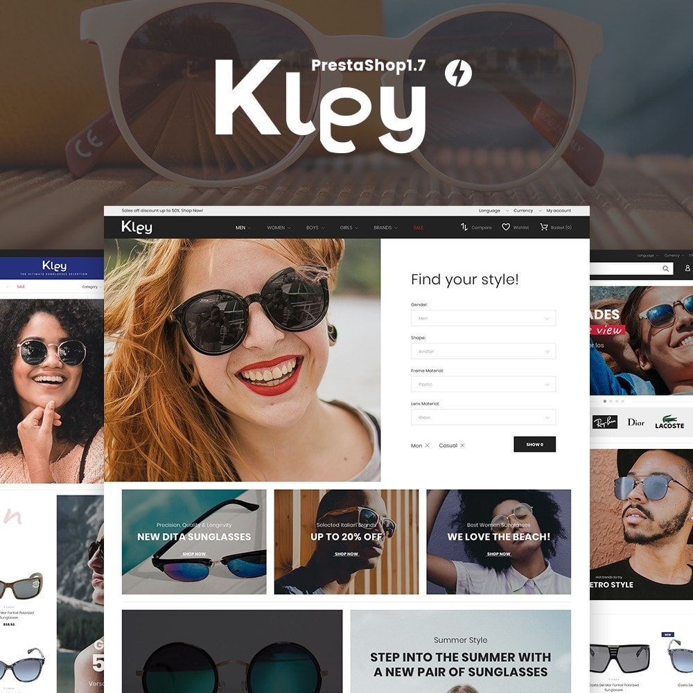 theme - Jewelry & Accessories - Kley - Sunglasses Store - 2