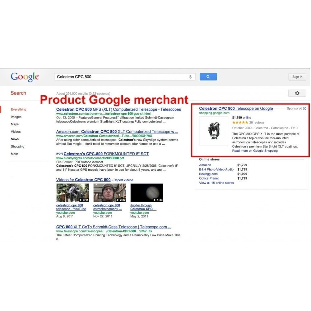 module - Comparateurs de prix - SeoSA Mega Google Merchants (Google Shopping) - 4