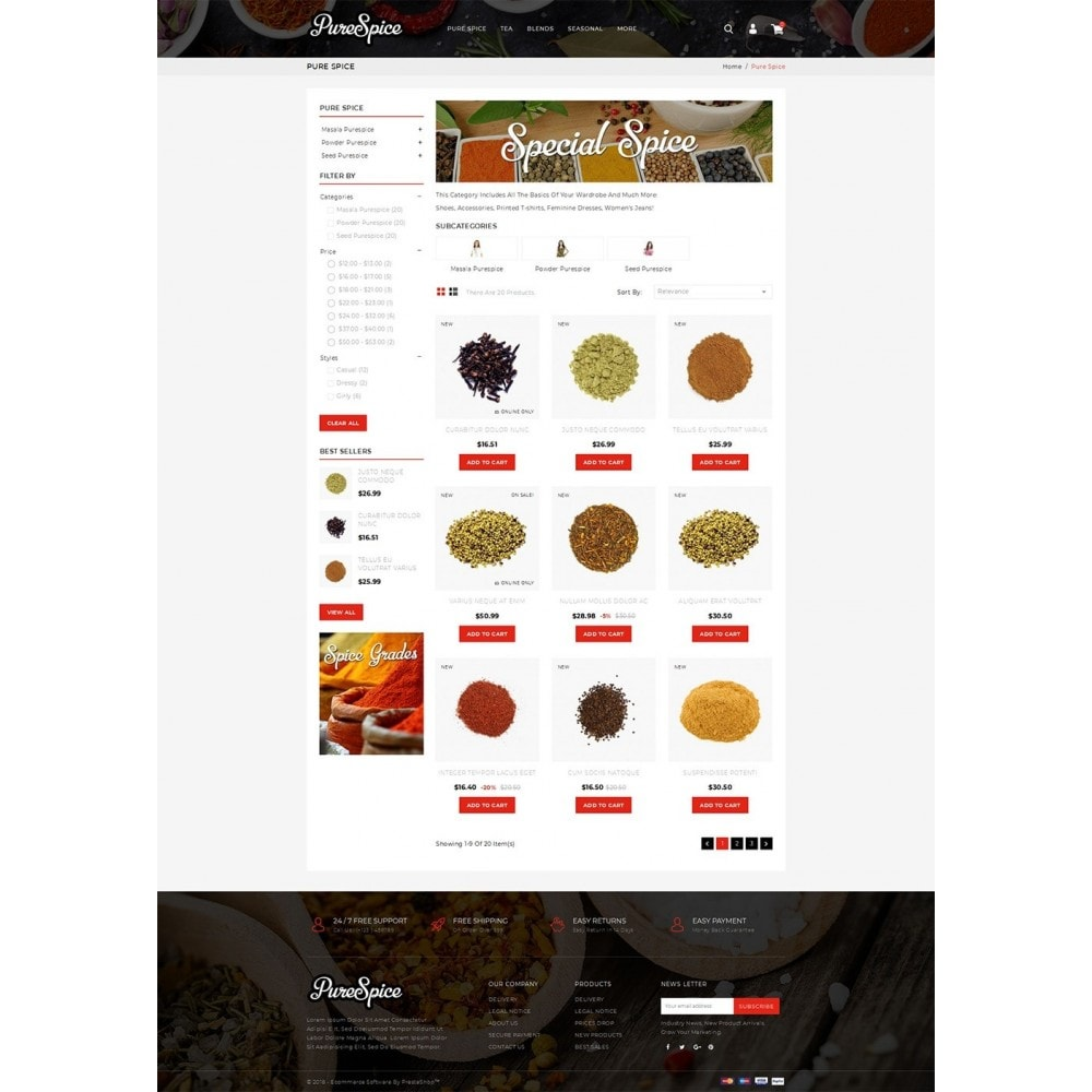 Purespice - Food Store