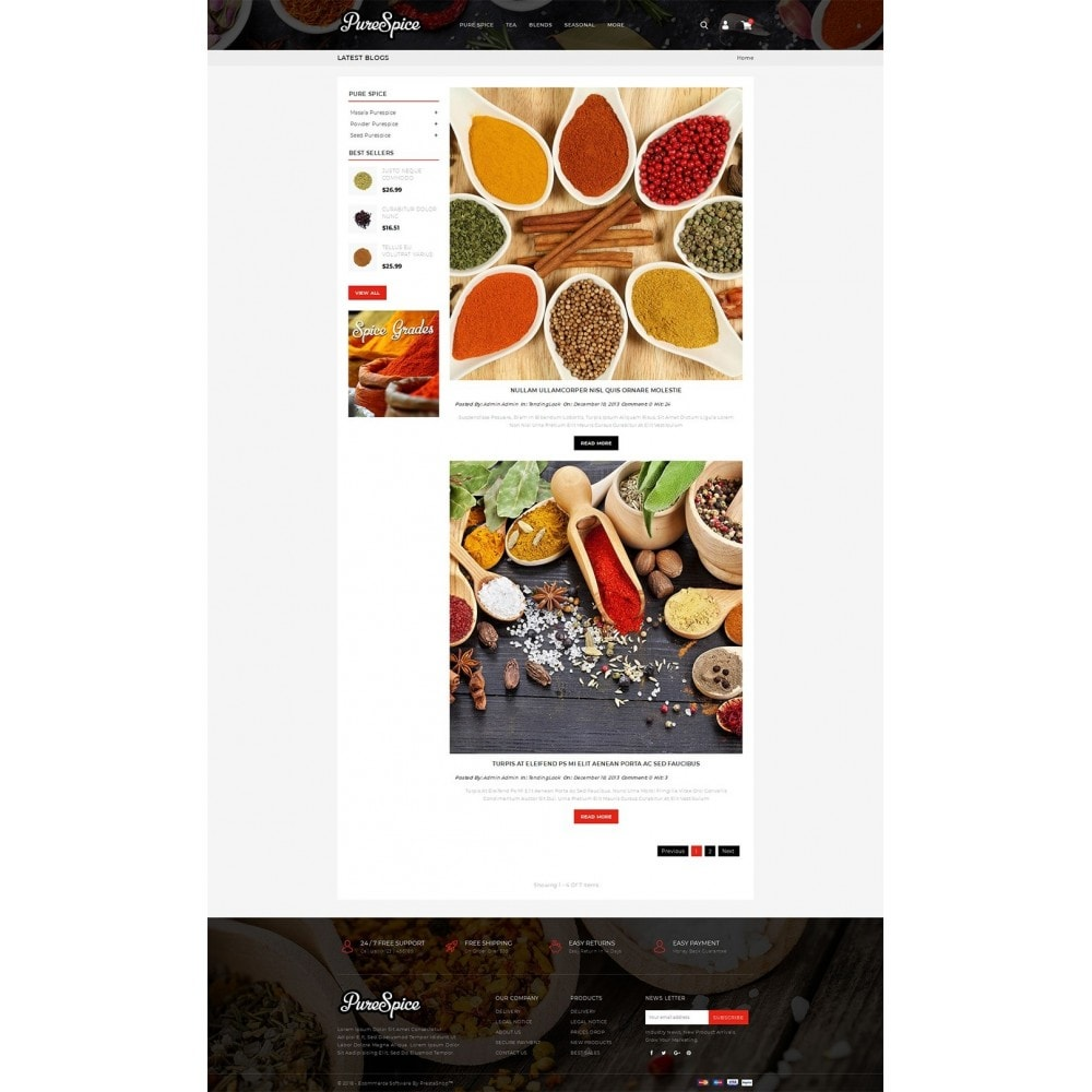 theme - Alimentation & Restauration - Purespice - Food Store - 5
