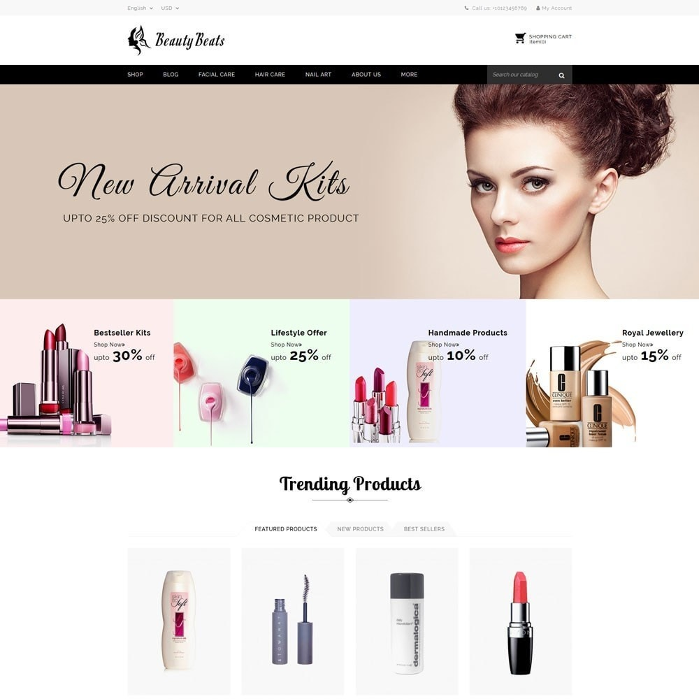 theme - Health & Beauty - Beauty Beats - The Beauty Shop - 2
