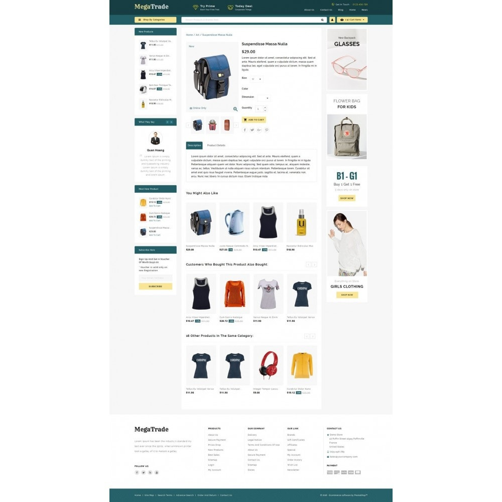 theme - Fashion & Shoes - Mega Trade - Multi Store - 4