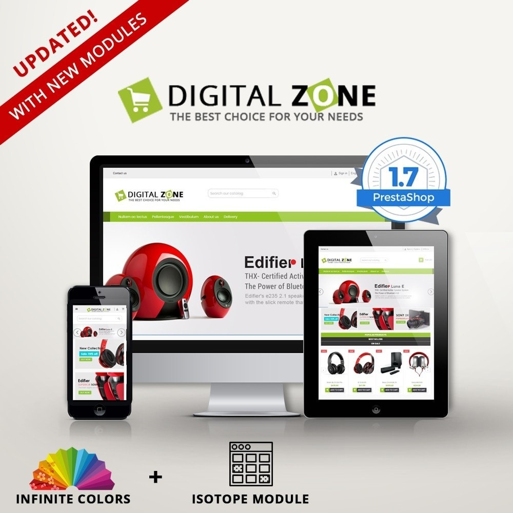 theme - Electrónica e High Tech - Digitalzone Multi-purpose HTML5 - 1