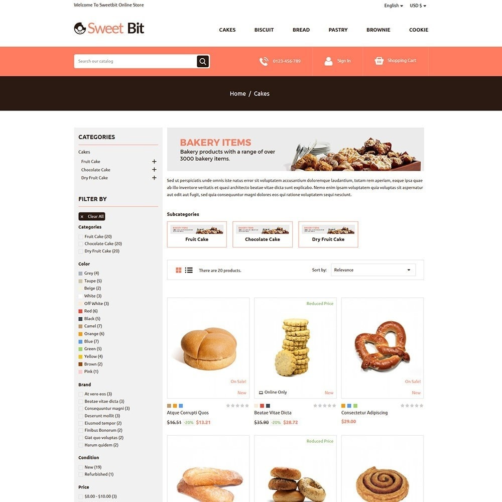 Sweetbit - Bakery Online Store
