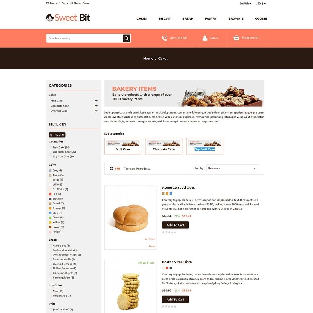 theme - Food & Restaurant - Sweetbit - Bakery Online Store - 4