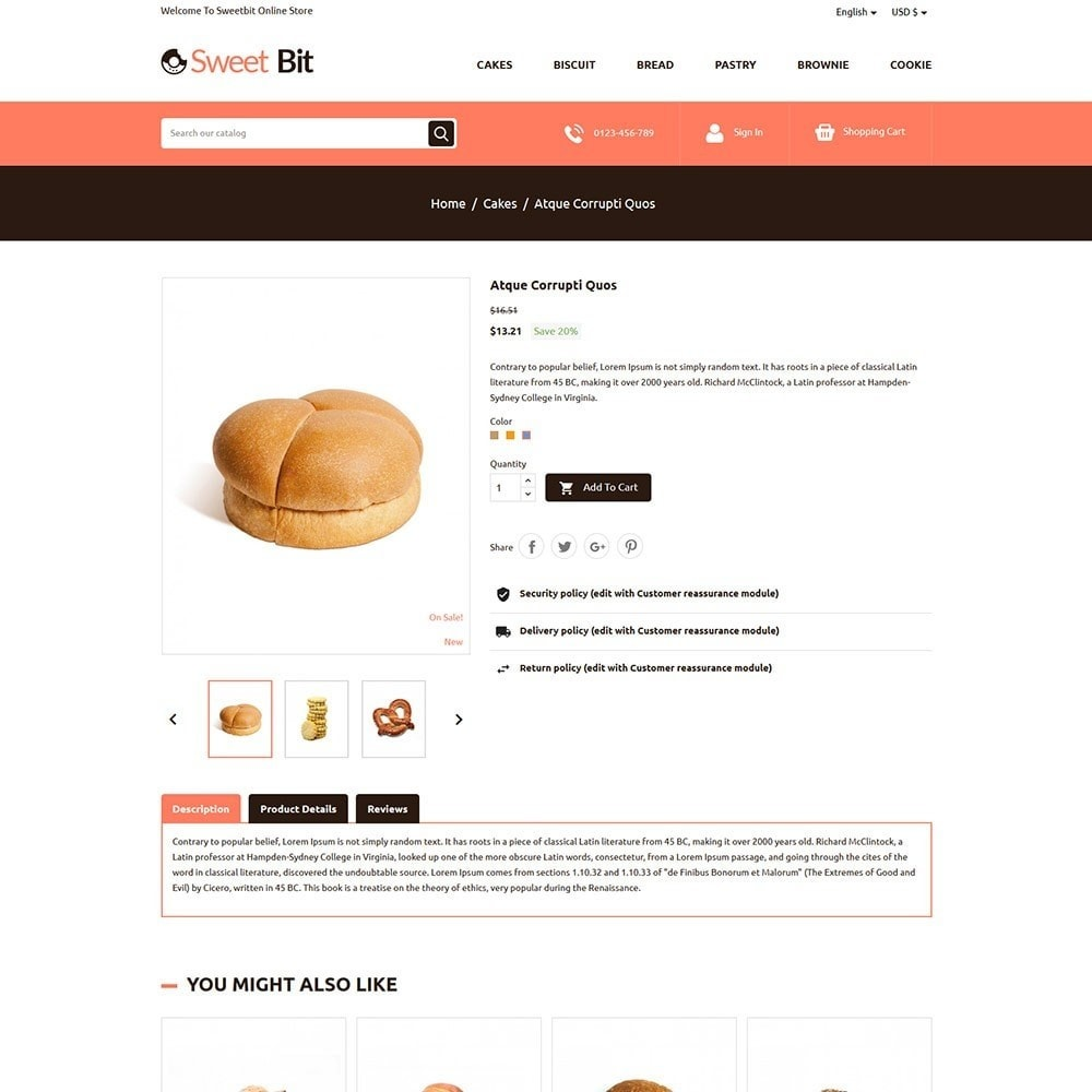 theme - Lebensmittel & Restaurants - Sweetbit - Bakery Online Store - 5