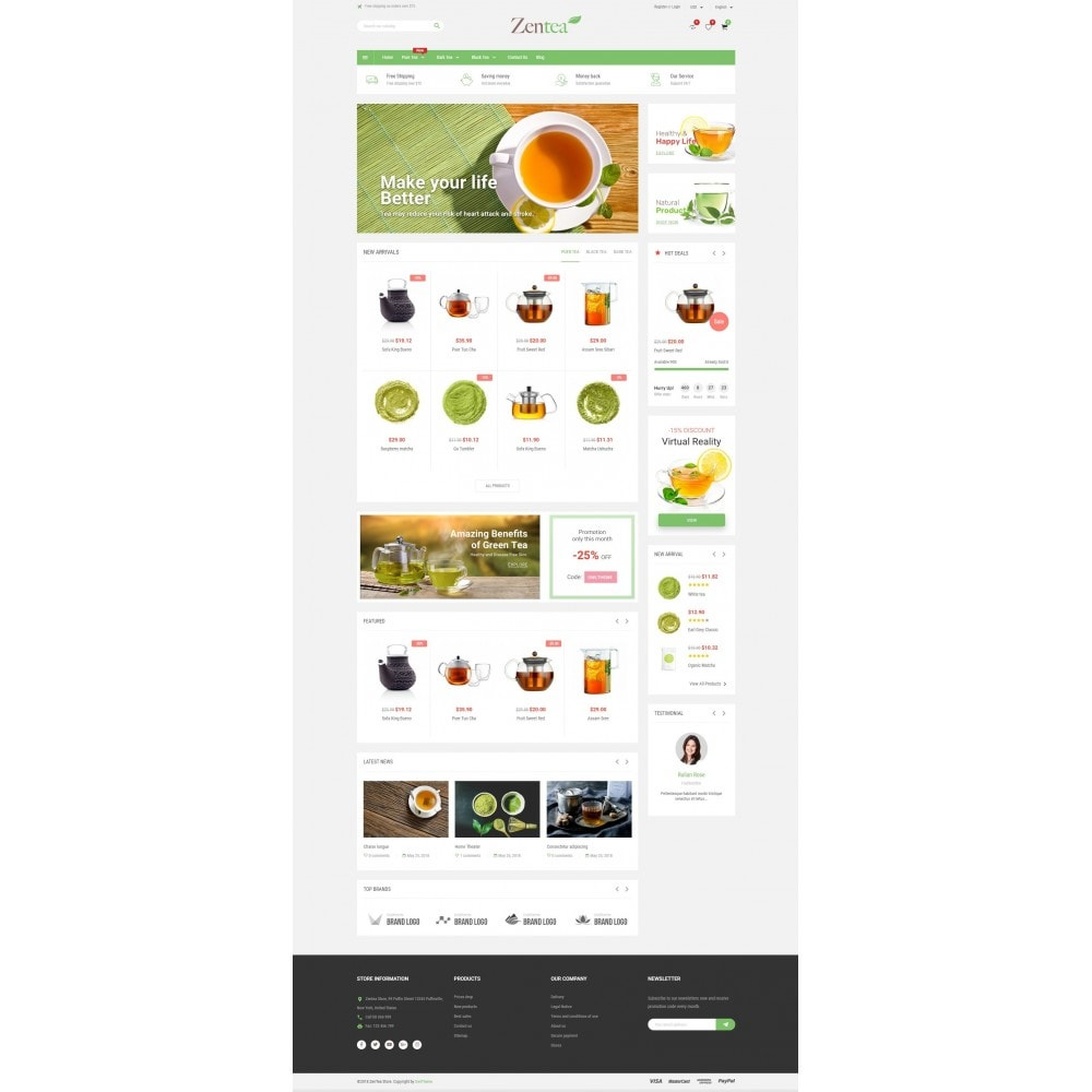 theme - Alimentos & Restaurantes - Zentea - Health & Beauty - 2
