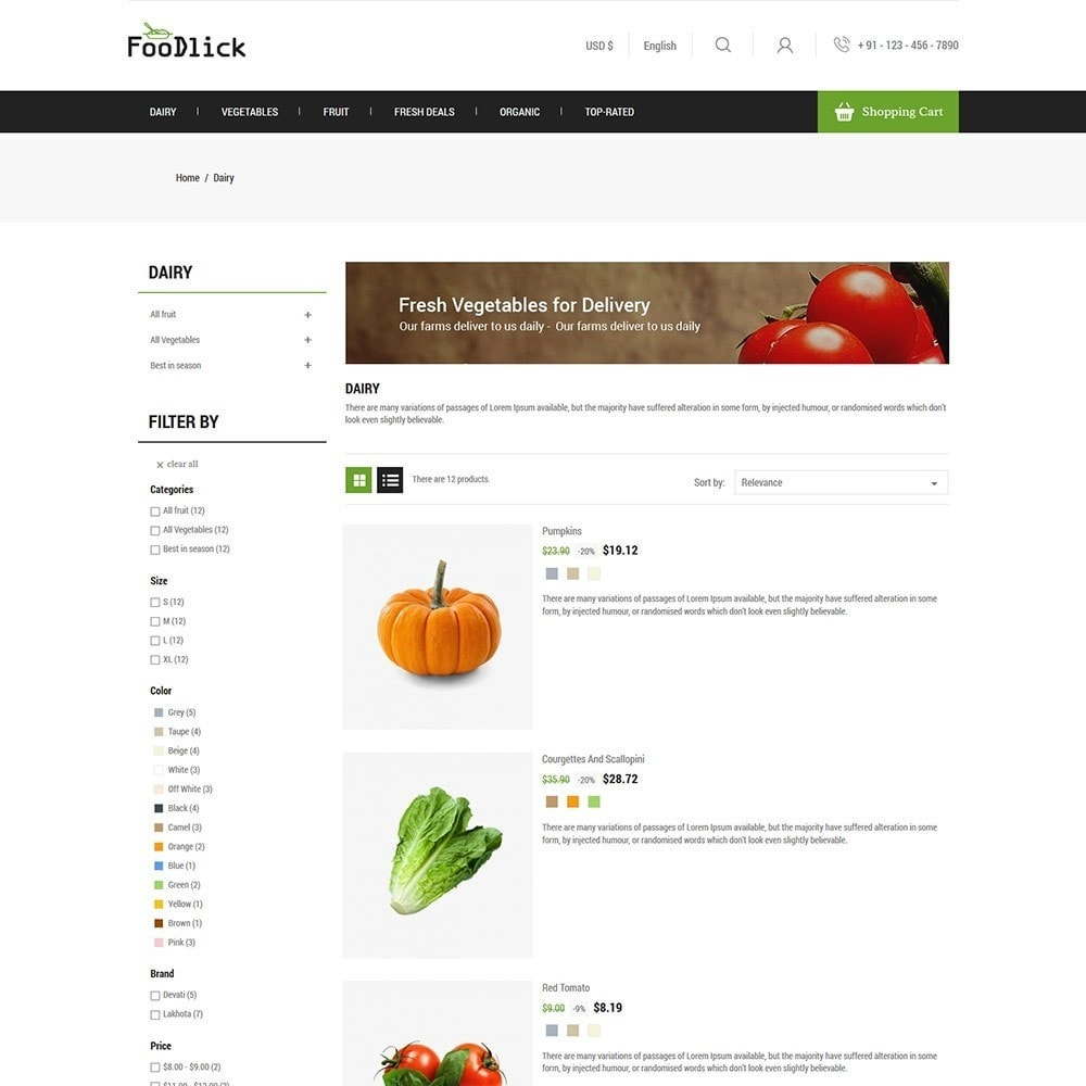 Vegetables - Food Store