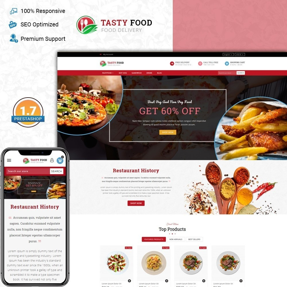 Testy food - Online food store