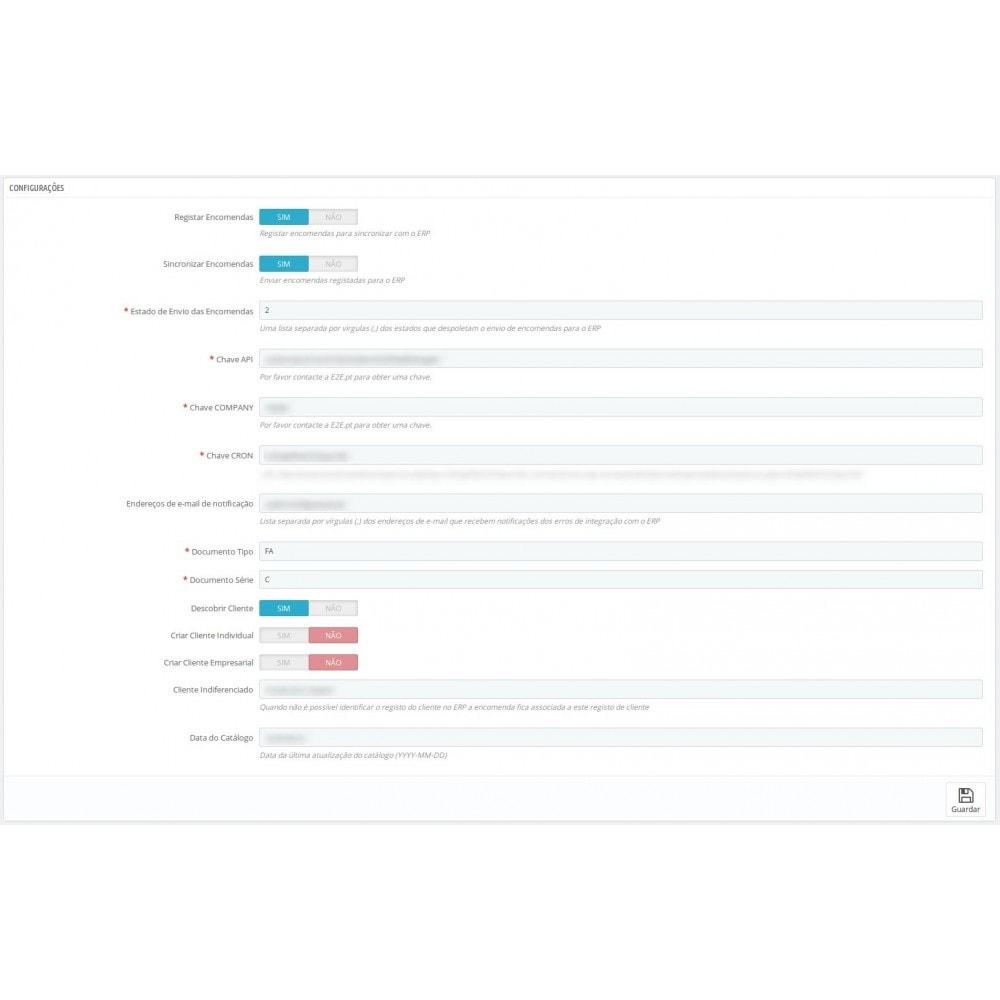 module - Conexão com software de terceiros (CRM, ERP...) - ERP Sync - PRIMAVERA / SAGE / PHC / ARTSOFT - 2
