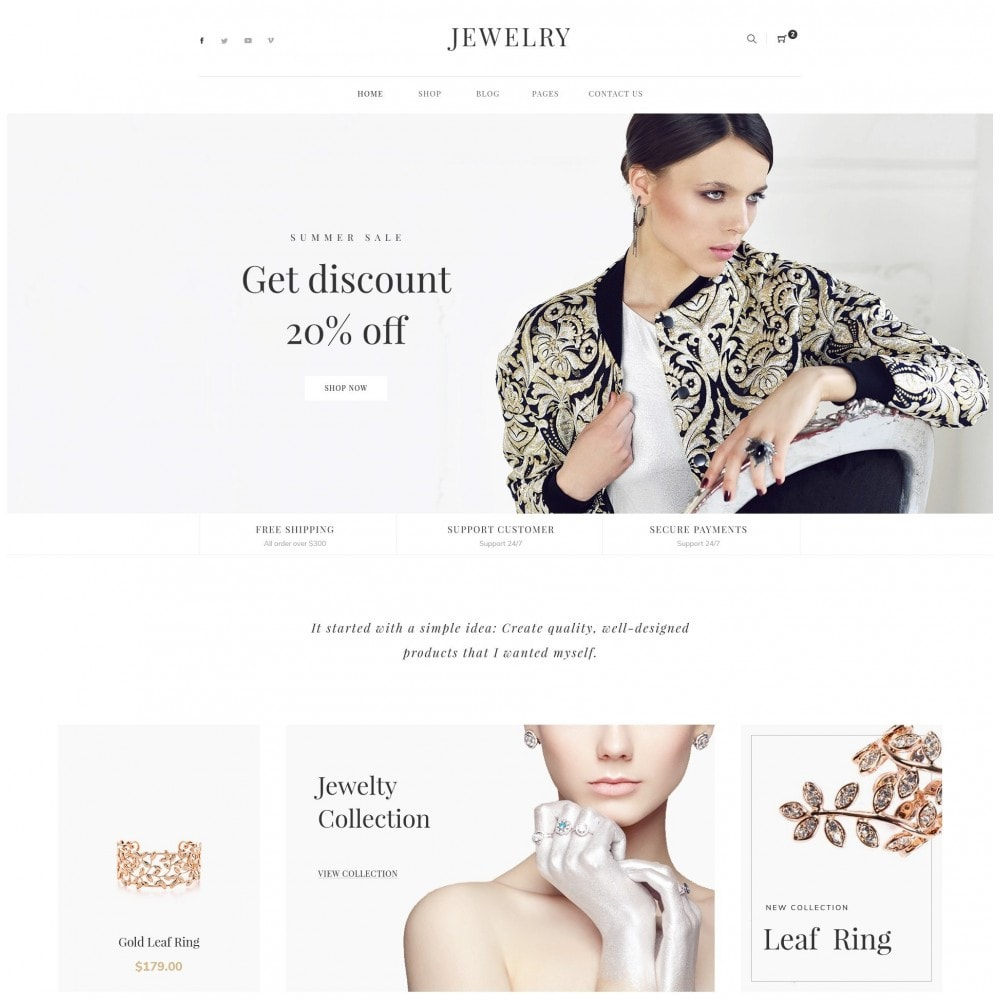 theme - Bijoux & Accessoires - Babi - Jewelry Store eCommerce Bootstrap 4 Template - 1