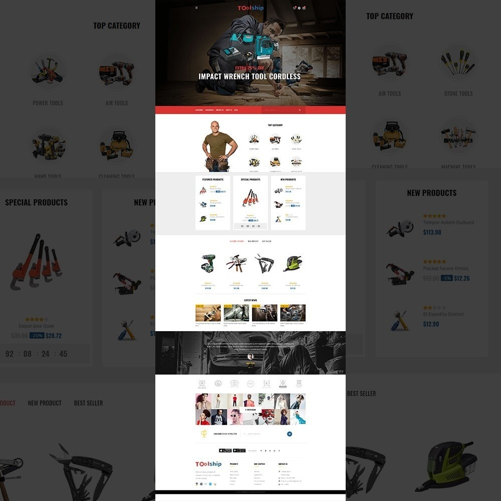 Toolship - Mega Tools Store Template