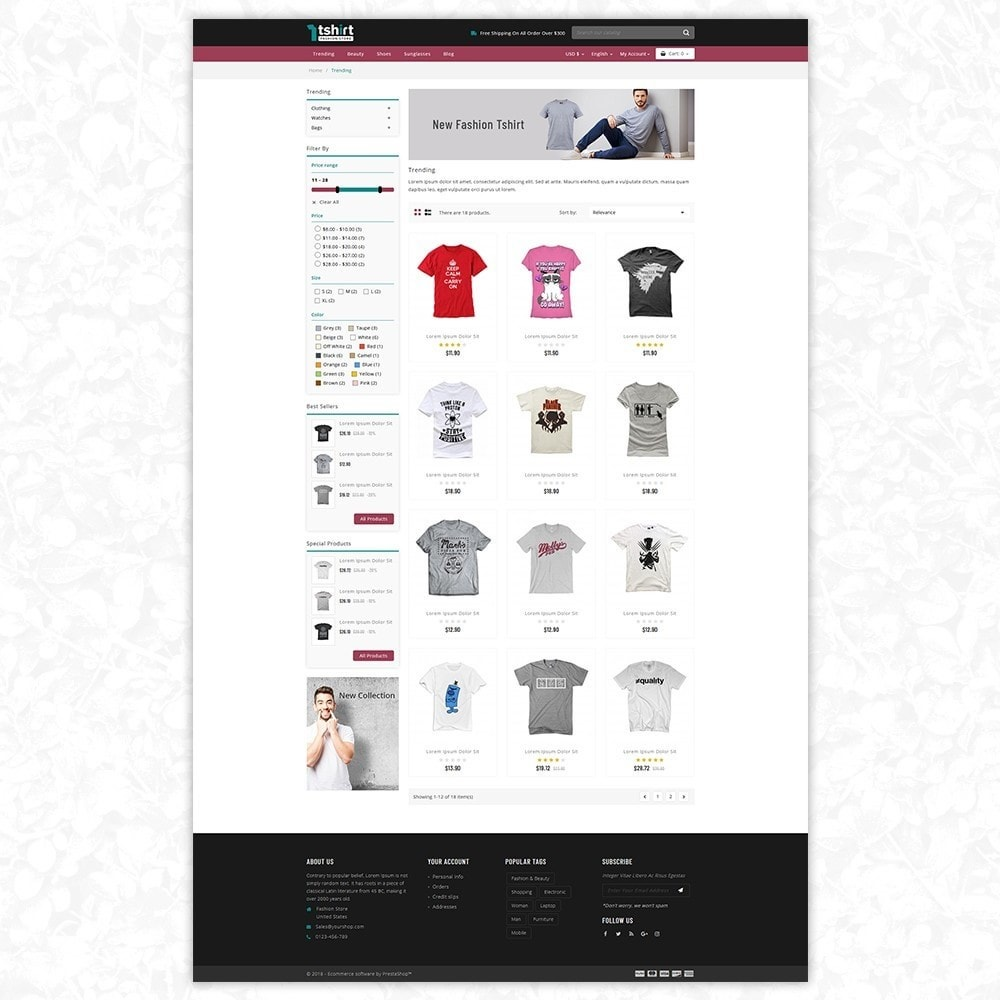 theme - Mode & Schoenen - Tshirt - Fashion store - 3