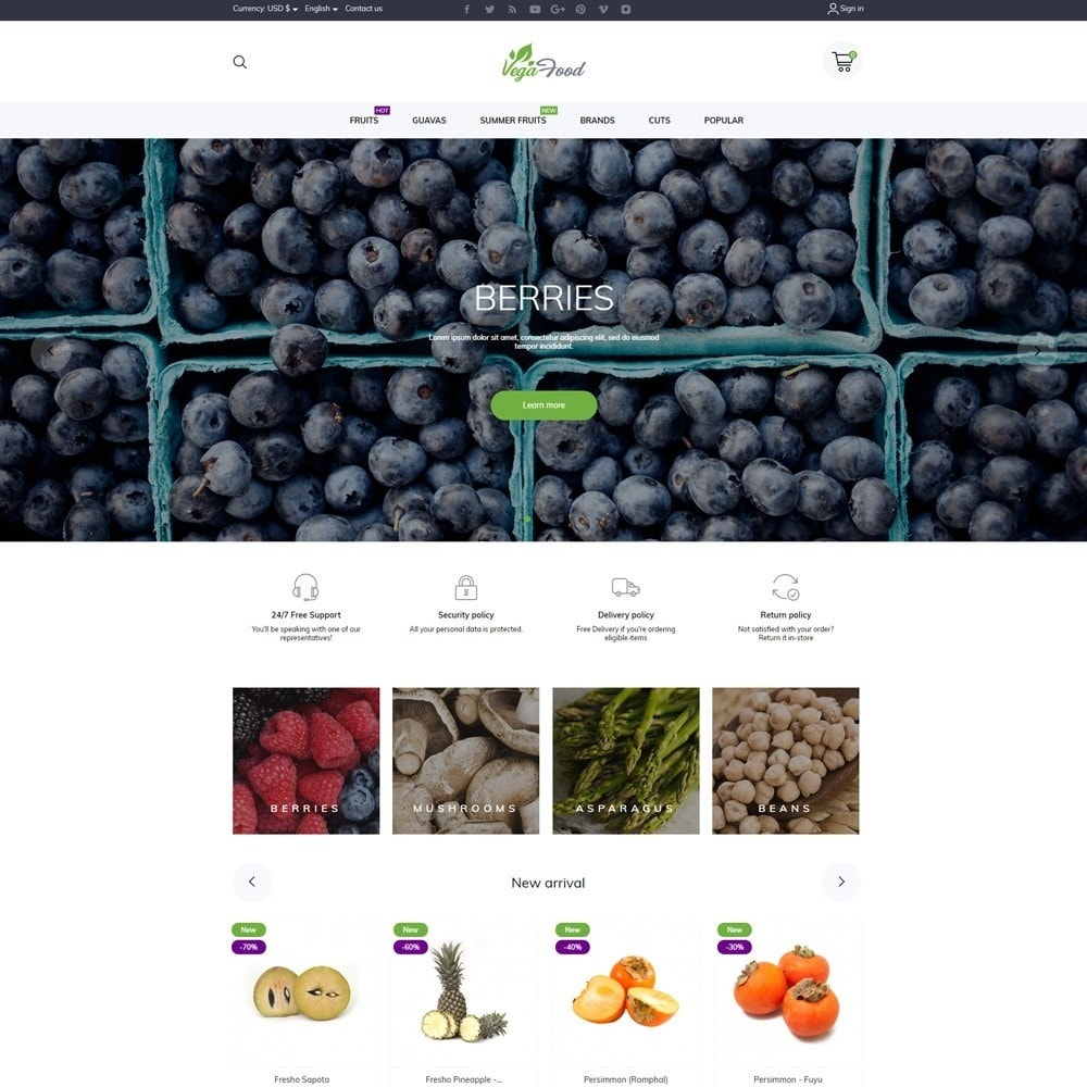 theme - Food & Restaurant - VegaFood - 2