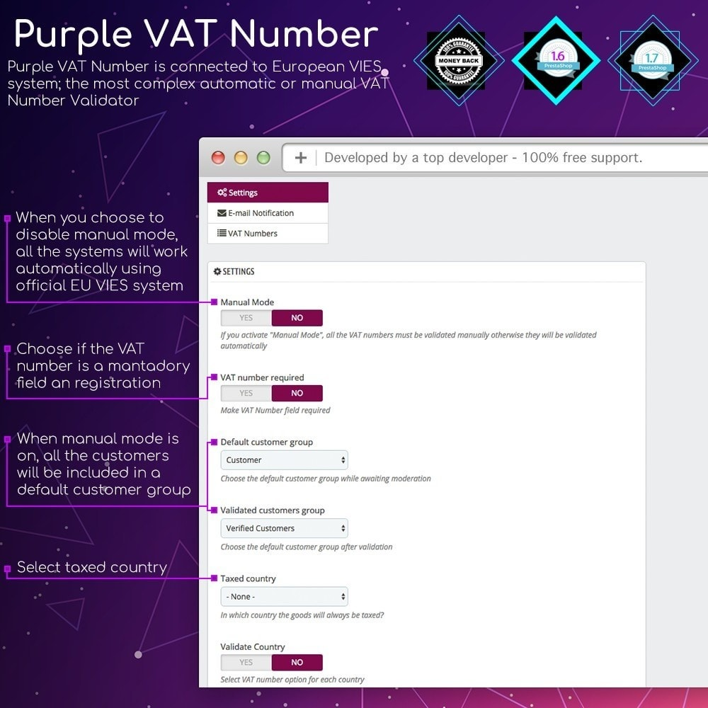 module - Internationaal & Lokalisatie - Purple VAT Number - 2
