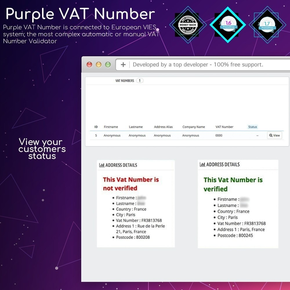 module - Internationaal & Lokalisatie - Purple VAT Number - 4