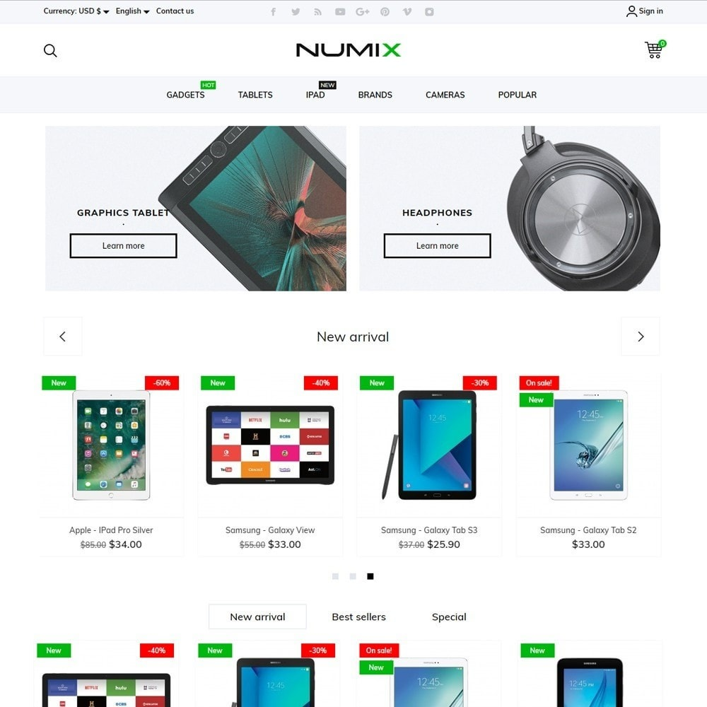 theme - Electronics & Computers - NumiX - High-tech Shop - 2