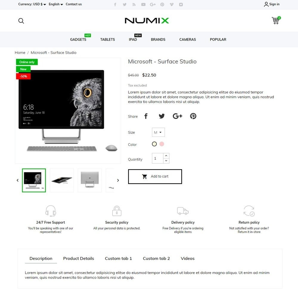 theme - Electronics & Computers - NumiX - High-tech Shop - 5
