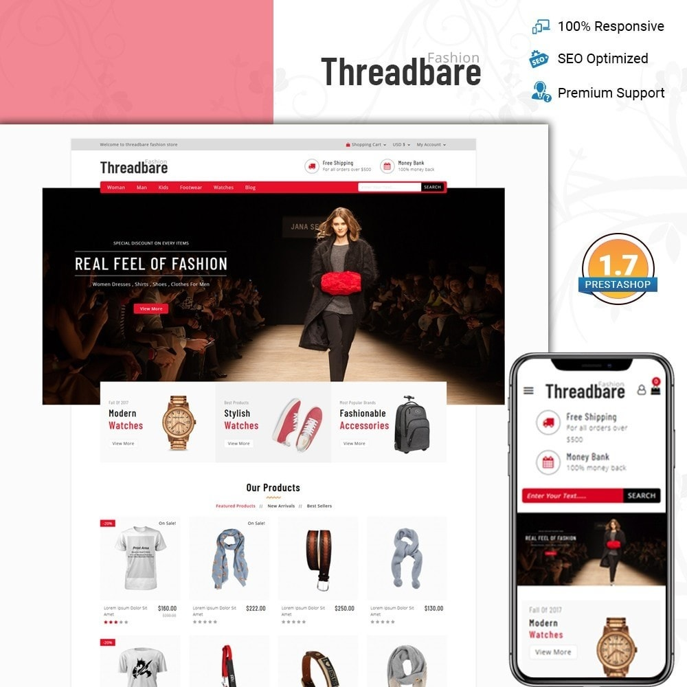 theme - Fashion & Shoes - Threadbare - Fashion Store - 1