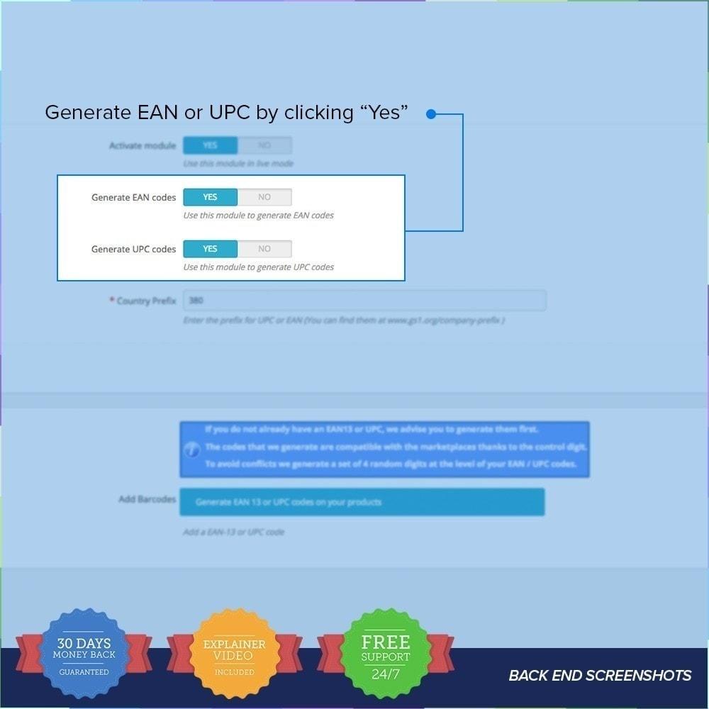 module - Bestands & Lieferantenmanagement - EAN-UPC Codegenerator - 2