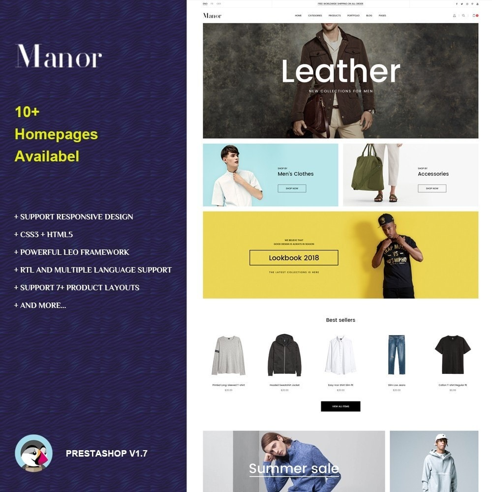 theme - Fashion & Shoes - Manor Fashion Store - 1