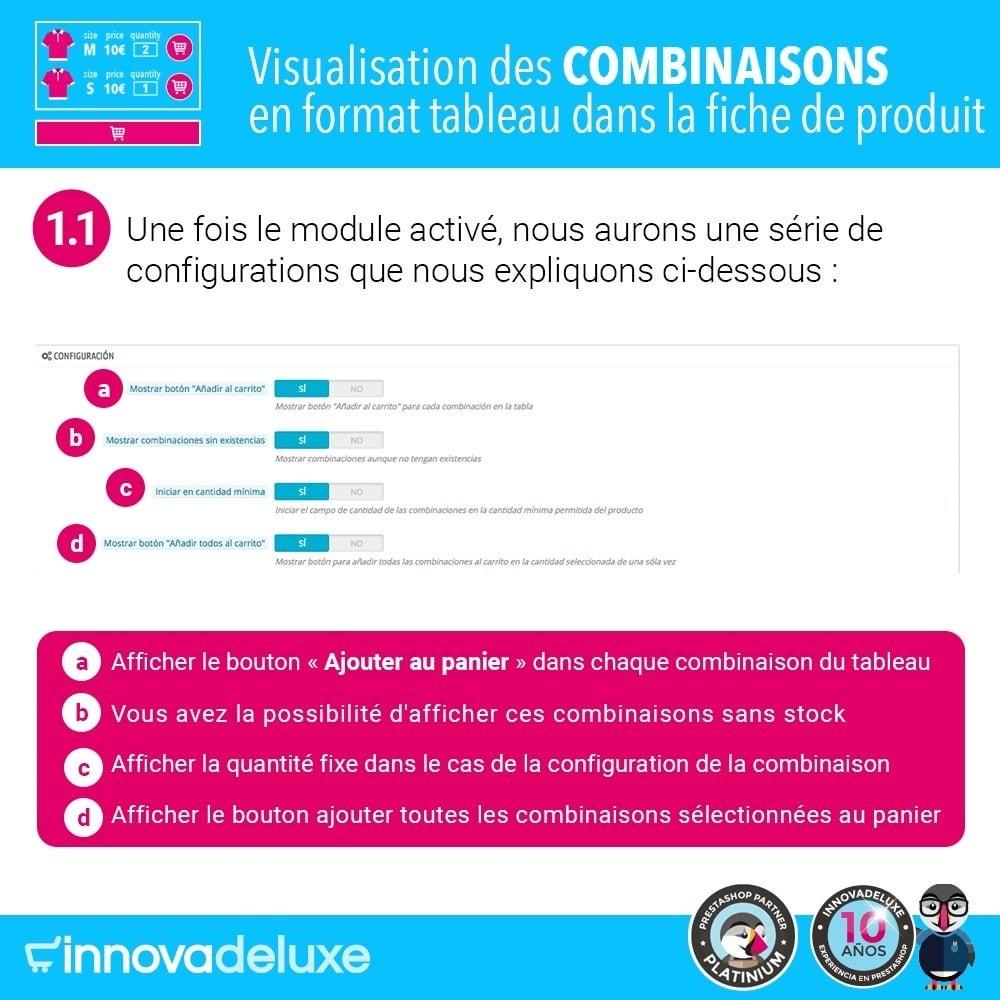 module - Déclinaisons & Personnalisation de produits - Fiche de produit avec tableau de combinaisons - 2
