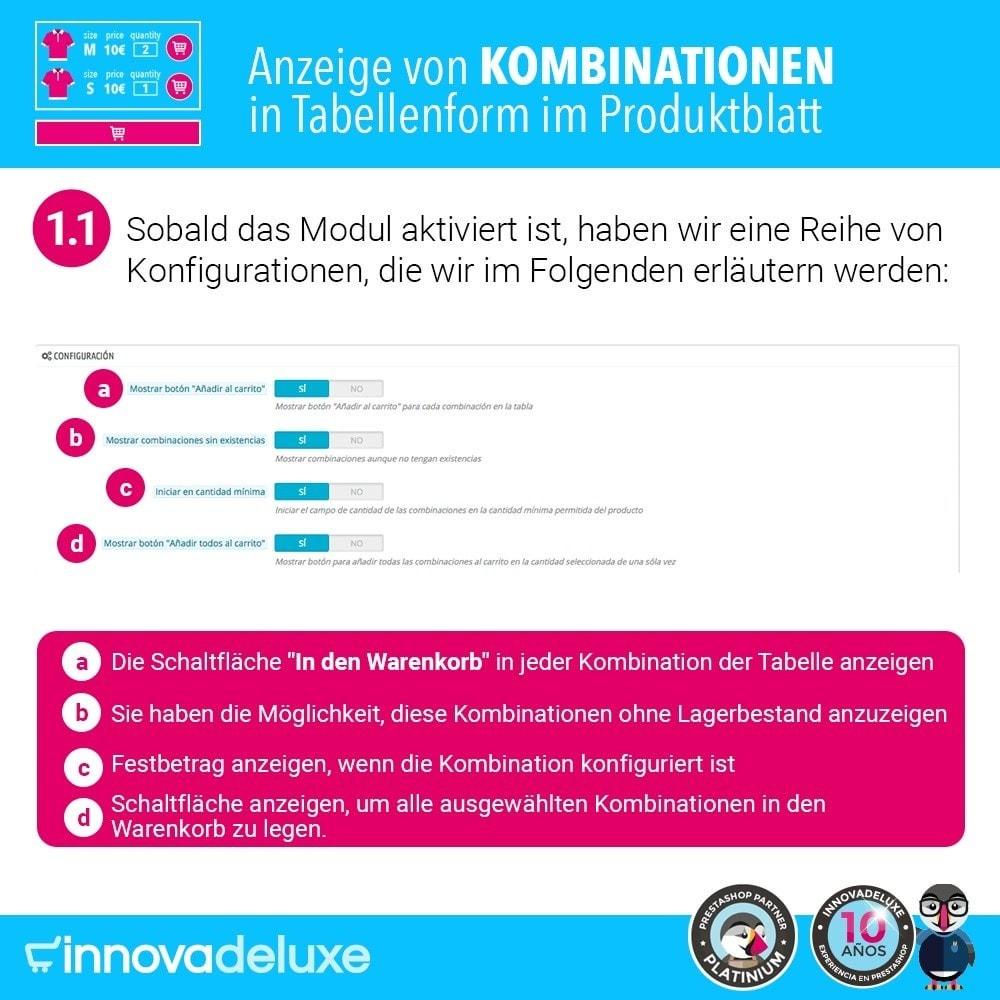 module - Bundels & Personalisierung - Produktdatenblatt mit Kombinationstabelle - 2