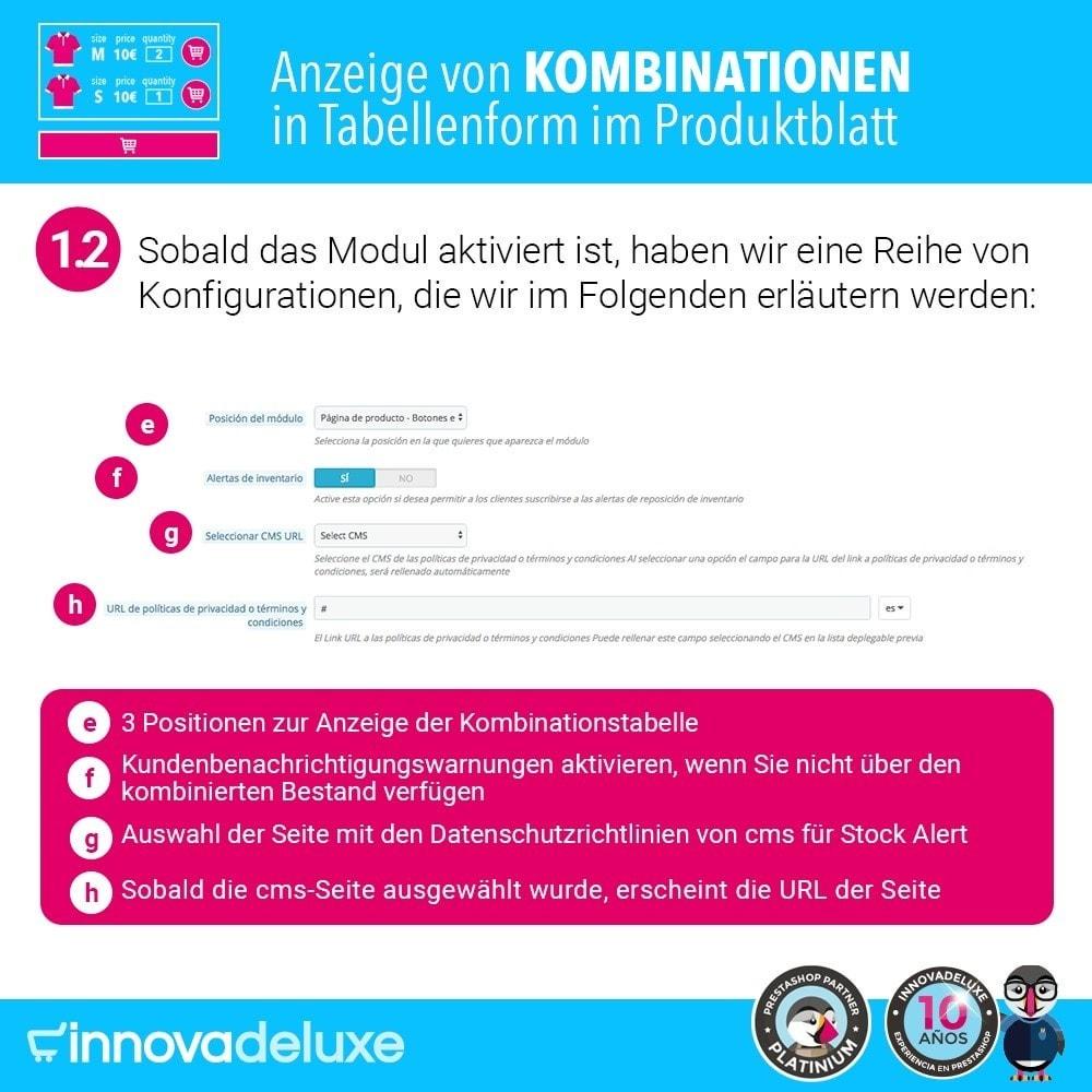 module - Bundels & Personalisierung - Produktdatenblatt mit Kombinationstabelle - 3