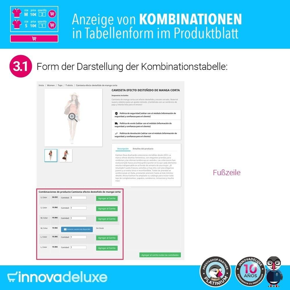 module - Bundels & Personalisierung - Produktdatenblatt mit Kombinationstabelle - 6