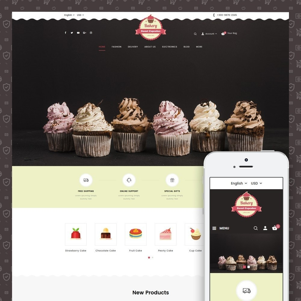 Sweet Cupcakes Store