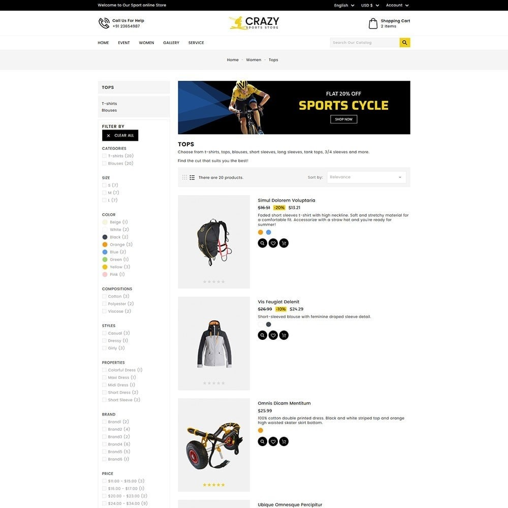 theme - Sports, Activities & Travel - Crazy Sports Store - 5
