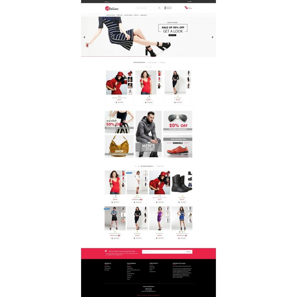 theme - Mode & Chaussures - Atelier Fashion Multipurpose HTML5 - 2