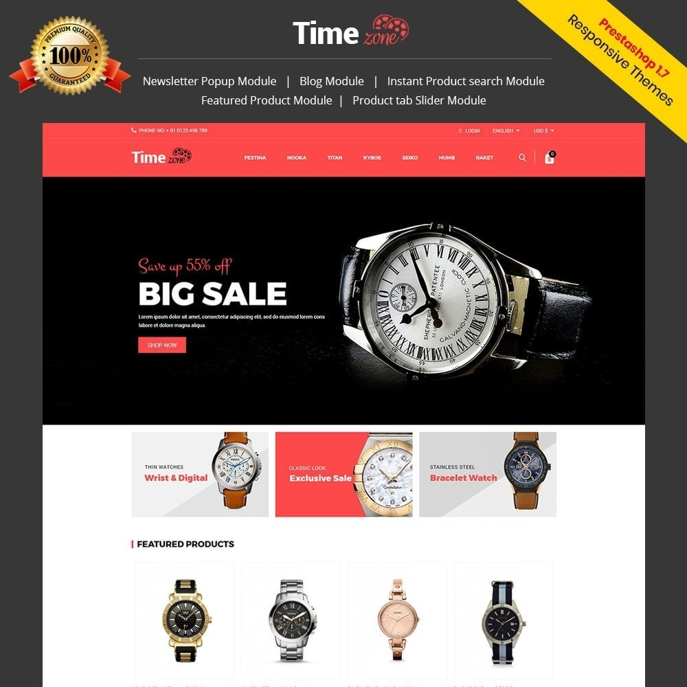 Timezone -  Watch Store