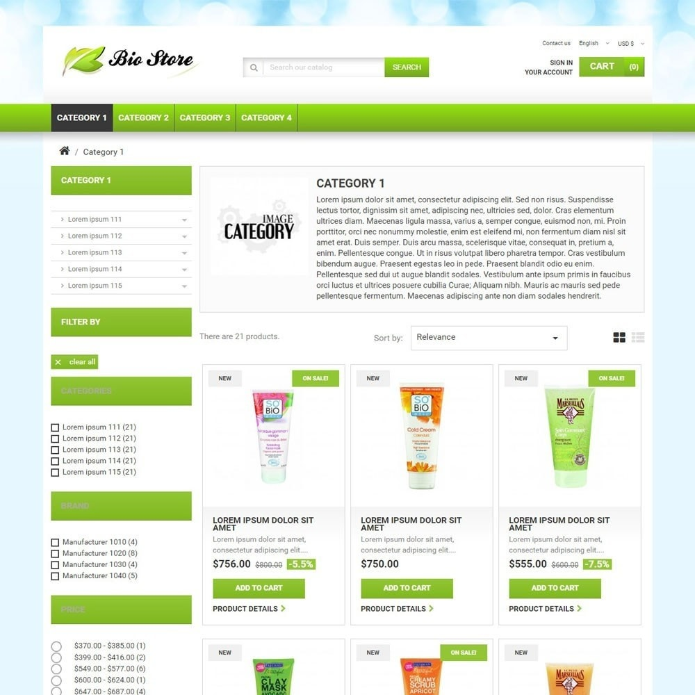 theme - Health & Beauty - BioStore - 2