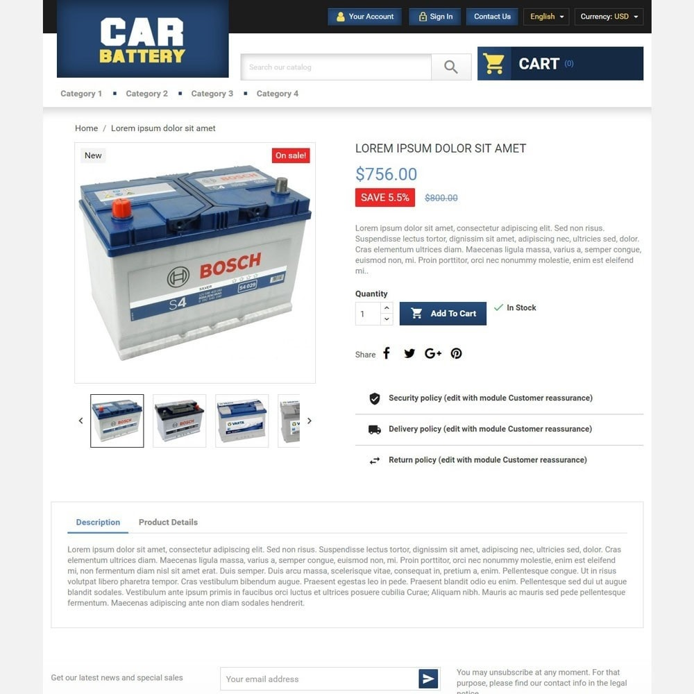 theme - Automotive & Cars - CarBattery - 3