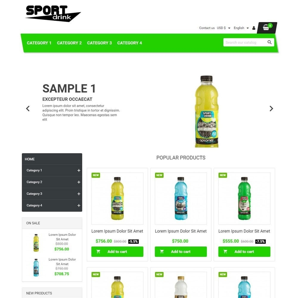 theme - Sports, Activities & Travel - SportDrink - 1