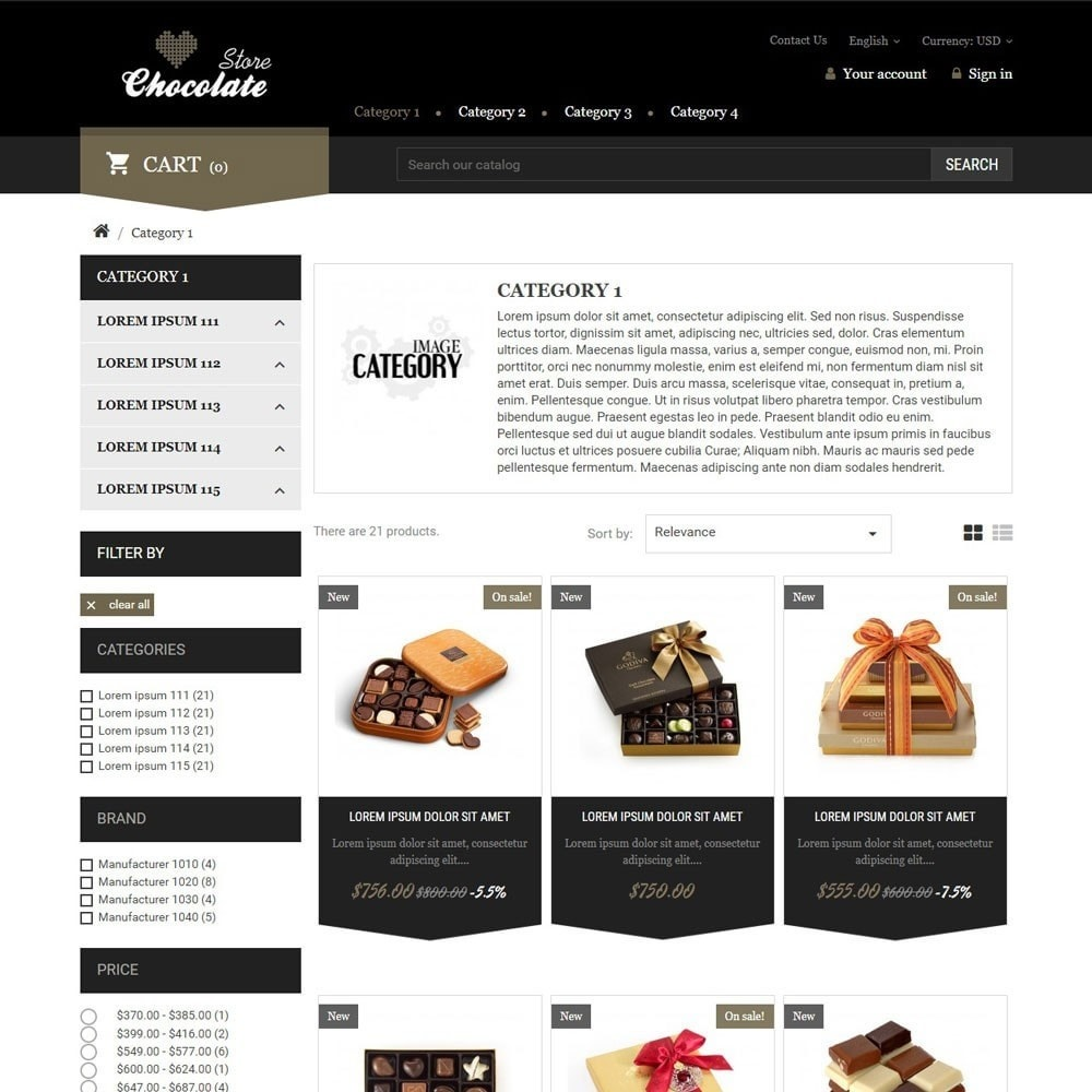 theme - Regalos, Flores y Celebraciones - ChocolateStore - 2
