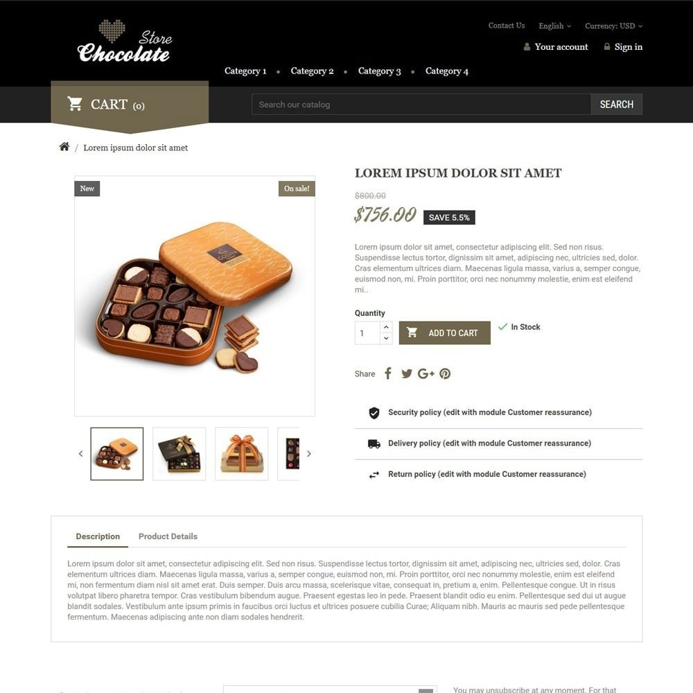 theme - Regalos, Flores y Celebraciones - ChocolateStore - 3