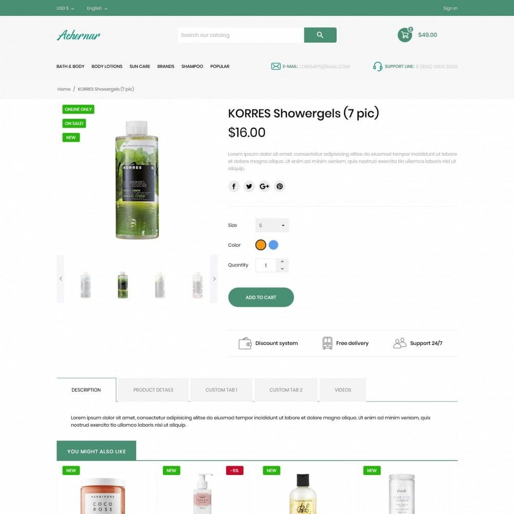 theme - Health & Beauty - Achernar Cosmetics - 6