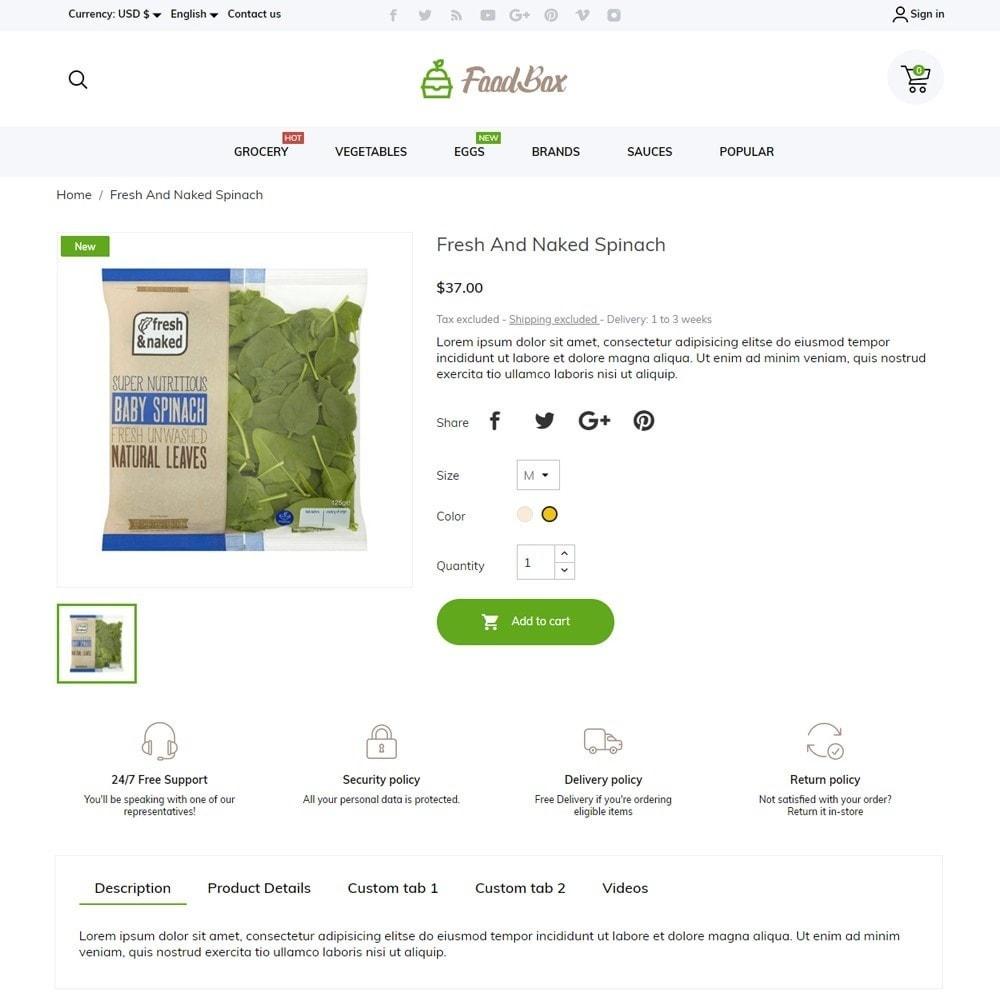 theme - Food & Restaurant - FoodBox - 5