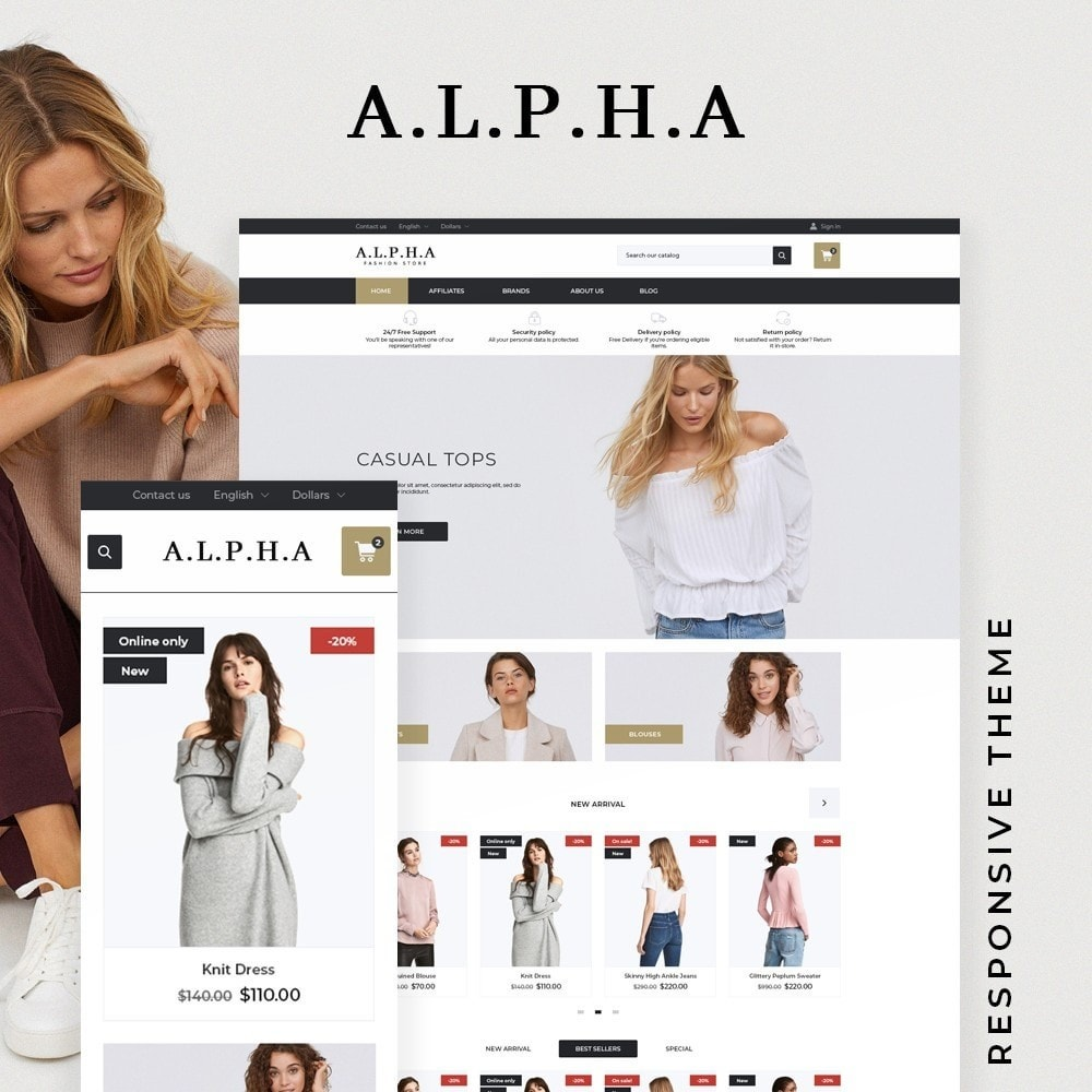 theme - Mode & Chaussures - Alpha Fashion Store - 1