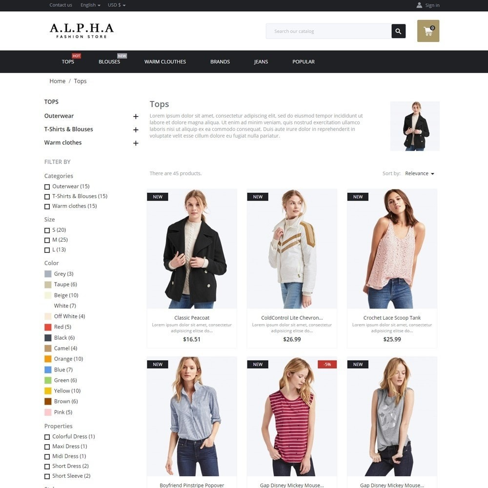 theme - Mode & Chaussures - Alpha Fashion Store - 5