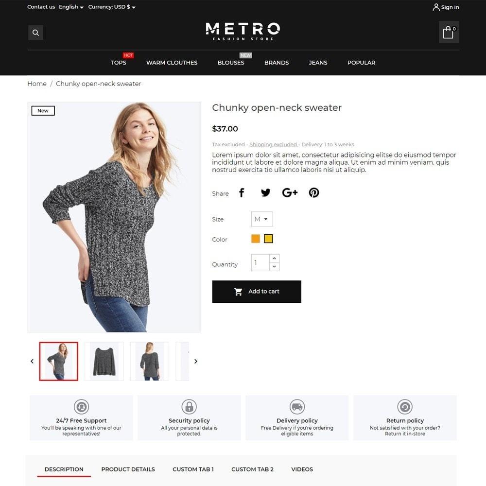 theme - Fashion & Shoes - Metro Fashion Store - 5