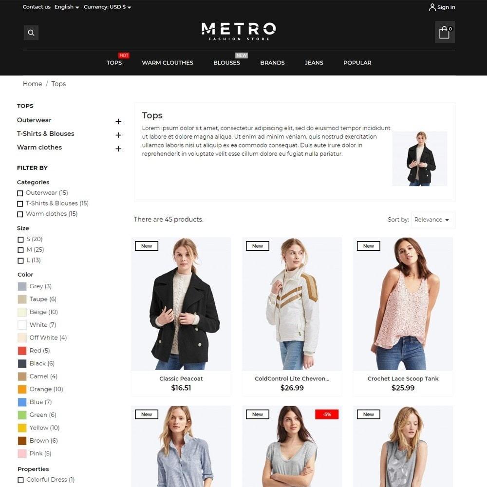theme - Fashion & Shoes - Metro Fashion Store - 6