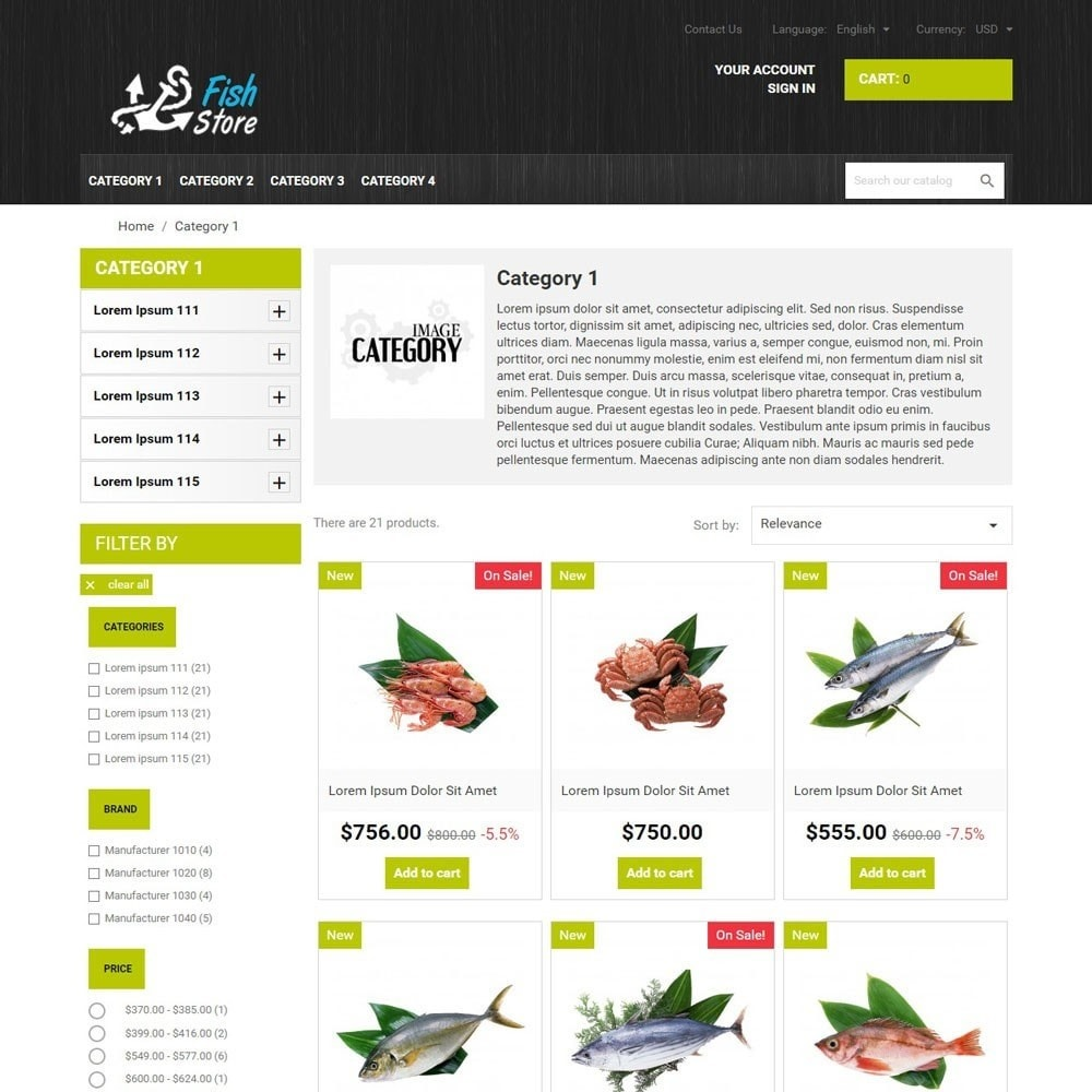 theme - Eten & Restaurant - FishStore - 2
