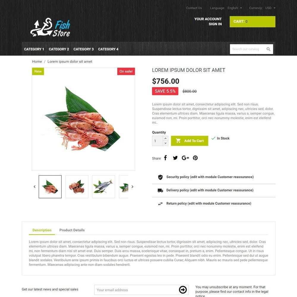 theme - Eten & Restaurant - FishStore - 3