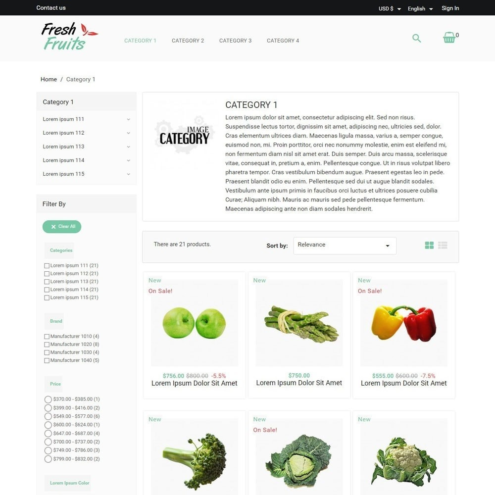 theme - Продовольствие и рестораны - FreshFruits - 2