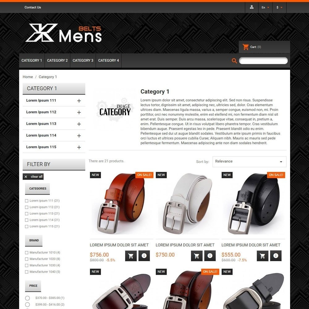 theme - Mode & Chaussures - MensBelts - 2