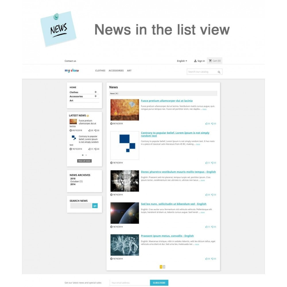 module - Blog, Foro y Noticias - News Advanced + Google Rich Snippets - 1
