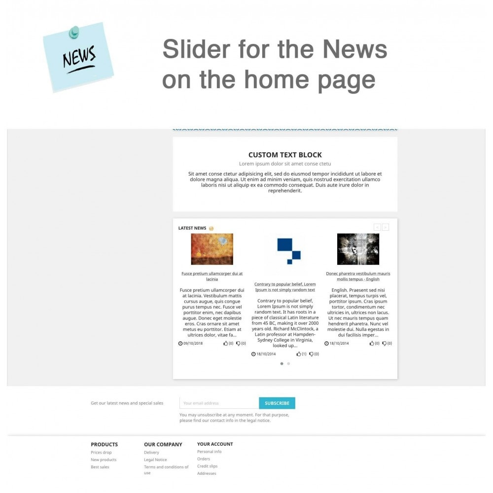 module - Blog, Forum & News - News Advanced + Google Rich Snippets - 5